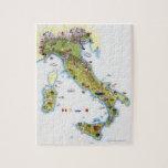 Mapa de Italia Rompecabezas Con Fotos