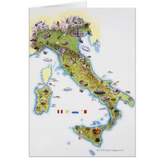Mapa de Italia Tarjeta De Felicitación