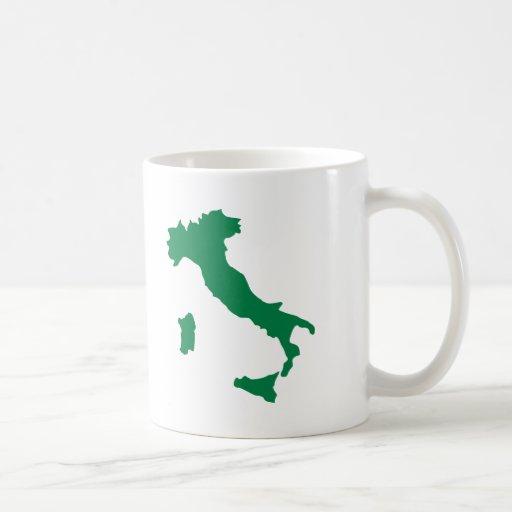 Mapa de Italia Taza De Café