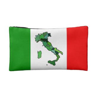 Mapa de Italia y de la bandera italiana
