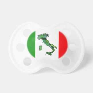 Mapa de Italia y de la bandera italiana Chupetes Para Bebés