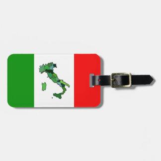 Mapa de Italia y de la bandera italiana Etiquetas Para Maletas