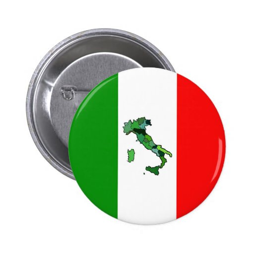 Mapa de Italia y de la bandera italiana Pins