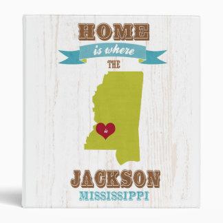 mapa de Jackson Mississippi - casero es donde