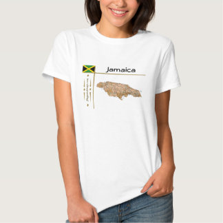 Mapa de Jamaica + Bandera + Camiseta del título Remeras