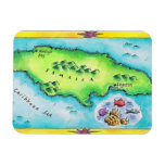 Mapa de Jamaica Imanes Flexibles