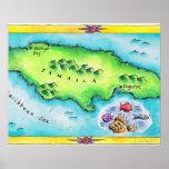 Mapa de Jamaica Impresiones