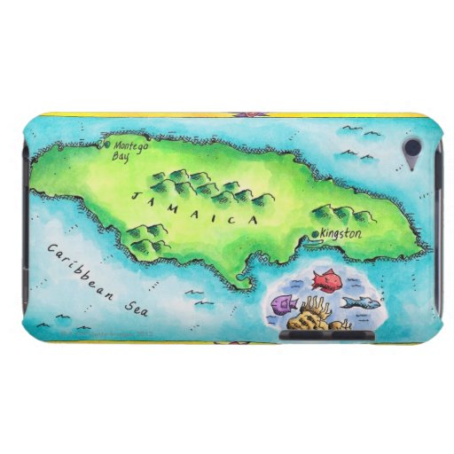 Mapa de Jamaica iPod Case-Mate Cárcasas