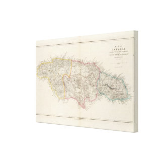 Mapa de Jamaica Impresión En Lona