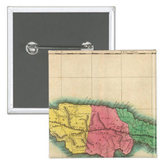 Mapa de Jamaica Pin Cuadrada 5 Cm