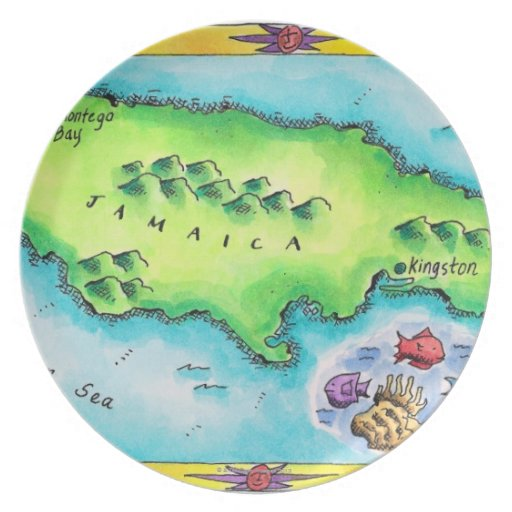 Mapa de Jamaica Plato De Cena