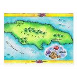 Mapa de Jamaica Postal