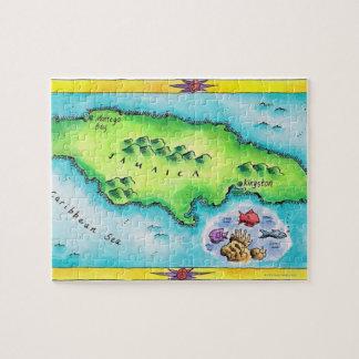 Mapa de Jamaica Puzzle Con Fotos
