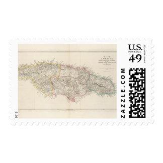 Mapa de Jamaica Franqueo