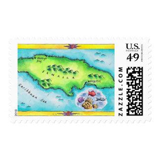 Mapa de Jamaica Sello