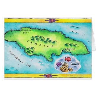 Mapa de Jamaica Felicitación