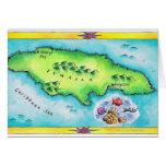 Mapa de Jamaica Tarjeta De Felicitación