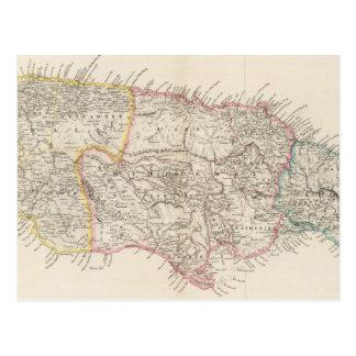 Mapa de Jamaica Tarjetas Postales