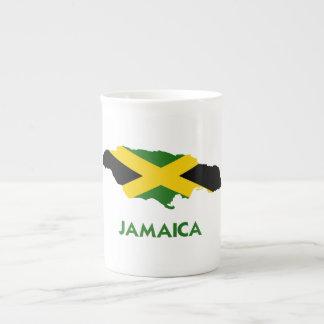 MAPA DE JAMAICA TAZA DE PORCELANA