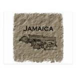 Mapa de Jamaica (vintage)