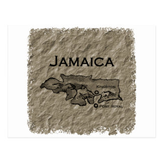 Mapa de Jamaica (vintage) Postal