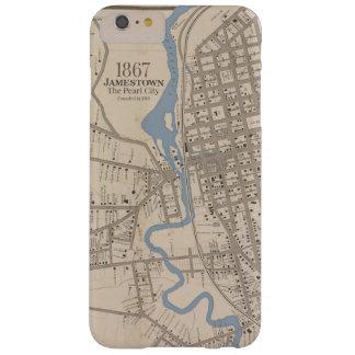 Mapa de Jamestown NY Funda Para iPhone 6 Plus Barely There