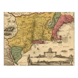 Mapa de Jansson Visscher Postales