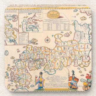 Mapa de Japón 3 Posavasos