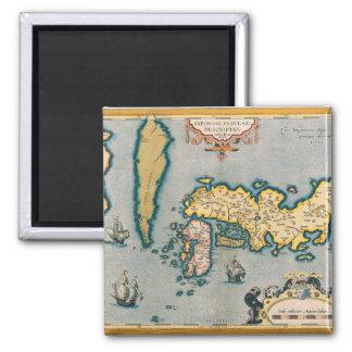 Mapa de Japón 5 Imán Cuadrado
