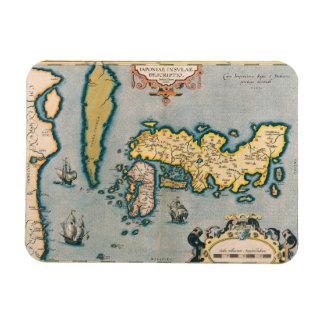Mapa de Japón 5 Imán De Vinilo