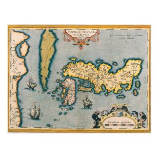 Mapa de Japón 5 Postal