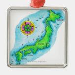 Mapa de Japón Adorno De Navidad