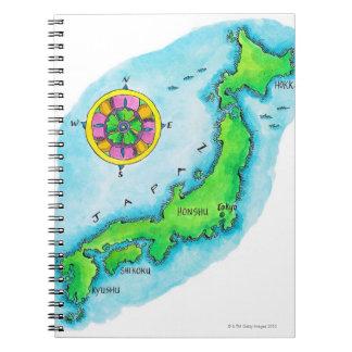Mapa de Japón Libretas