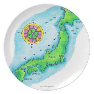 Mapa de Japón Platos