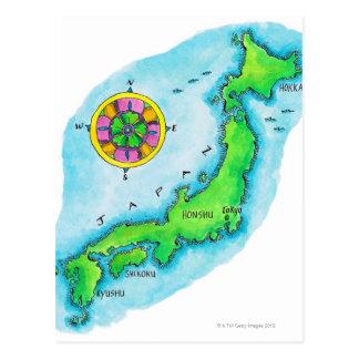 Mapa de Japón Postal