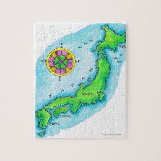 Mapa de Japón Puzzle