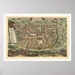 Mapa de Jerusalén de Nicolaes Visscher 1660 Impresiones