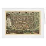 Mapa de Jerusalén de Nicolaes Visscher 1660 Felicitación