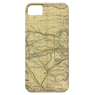 Mapa de Josiah Gregg 1844 del territorio indio iPhone 5 Funda