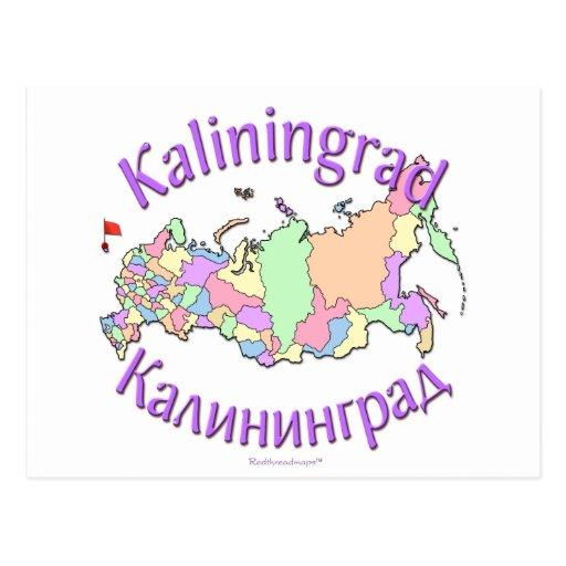Mapa de Kaliningrado Rusia Postal