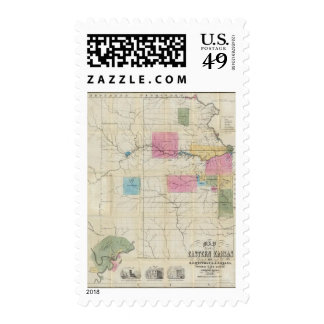 Mapa de Kansas del este Envio