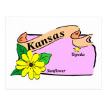 Mapa de Kansas Postal