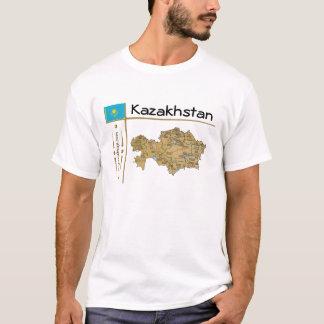 Mapa de Kazajistán + Bandera + Camiseta del título