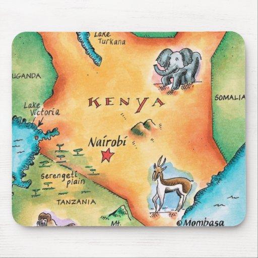 Mapa de Kenia Alfombrillas De Raton