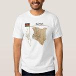 Mapa de Kenia + Bandera + Camiseta del título Playera