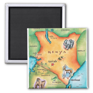 Mapa de Kenia Iman De Nevera