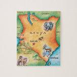 Mapa de Kenia Rompecabezas Con Fotos