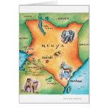 Mapa de Kenia Tarjeta De Felicitación