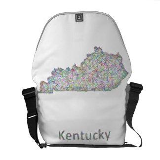 Mapa de Kentucky Bolsa De Mensajería