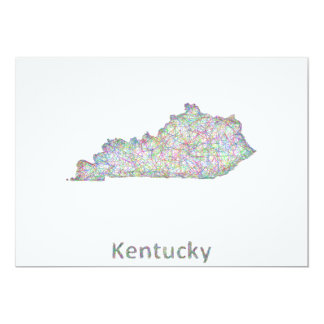 """Mapa de Kentucky Invitación 5"""" X 7"""""""